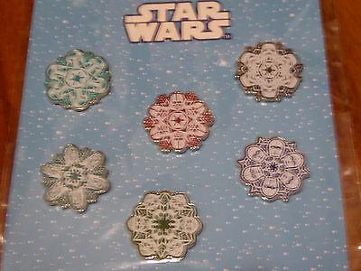 Disney Trading Pins 119142 Star Wars Snowflakes Booster Set