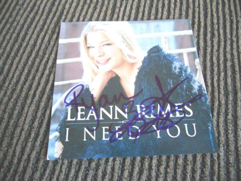 Leann Rimes I Need You Sexy Autographed Signed CD Book PSA Guaranteed