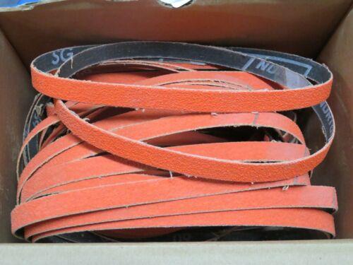 "5 pcs NORTON SG Blaze 1/2"" x 18"" Grit 60 Sanding Belts 98022 USA"