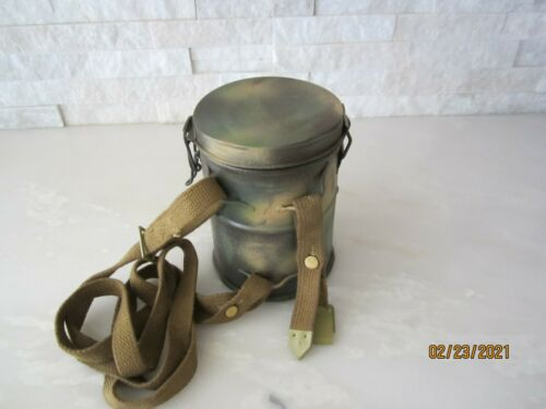 WWI GERMAN M1916 CAMO GAS MASK CANISTER REPLICA