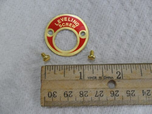 """South Bend Lathe """"leveling screw"""" name plate"""