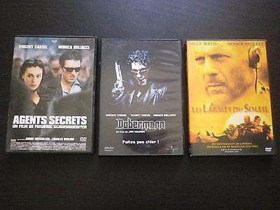 Monica bellucci : lot 8 films dvd le concile de pierre  dobermann agents secrets