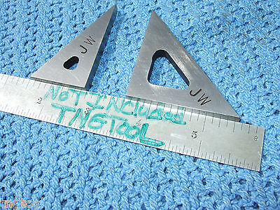 Triangles 2 Tall Angle Gage Blocks 45 30 Vintage Toolmaker Machinist Inspect