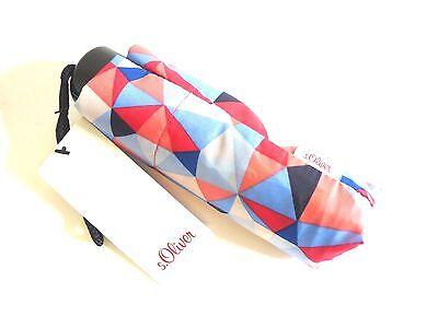 s.Oliver Regenschirm Dynamic Kaleido blau pink - mini - Taschenschirm