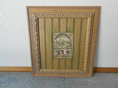 "Paragon Wall Décor, 3 Potted Lemon Trees, Framed, Wood Panel Mat, 20"" x 22"" Paragon Wall Decor"
