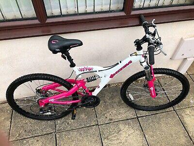 Ladies Shockwave XT920 mountain bike pink and white hardly used