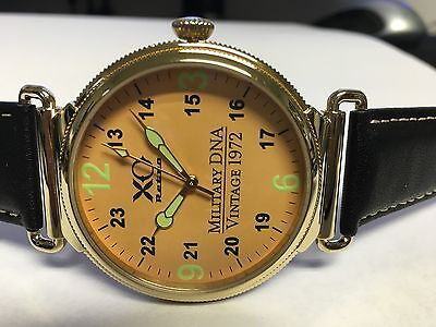 New Xo Retro Phantom Actual DNA Unique Copper Dial Leather Military Watch