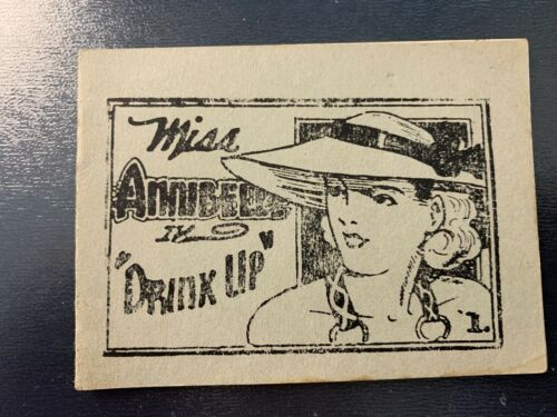 Vintage Tijuana Bibles - Miss Annibelle in  Drink UP - Adult Comic  VERY RARE