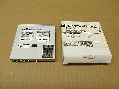 1 Nib Pepperl Fuchs Crouse Hinds Ghg1110000w2427 Barrier