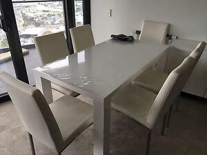 Seven piece dining set Docklands Melbourne City Preview