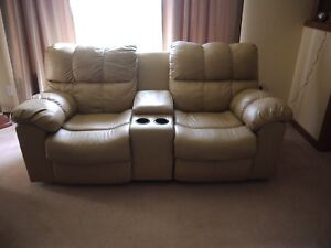 Ashey reclining  love seat with centre console