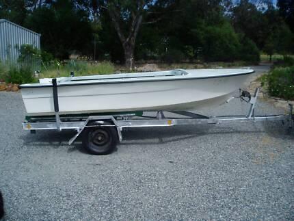 4.2m f/glass converted Pride Boat