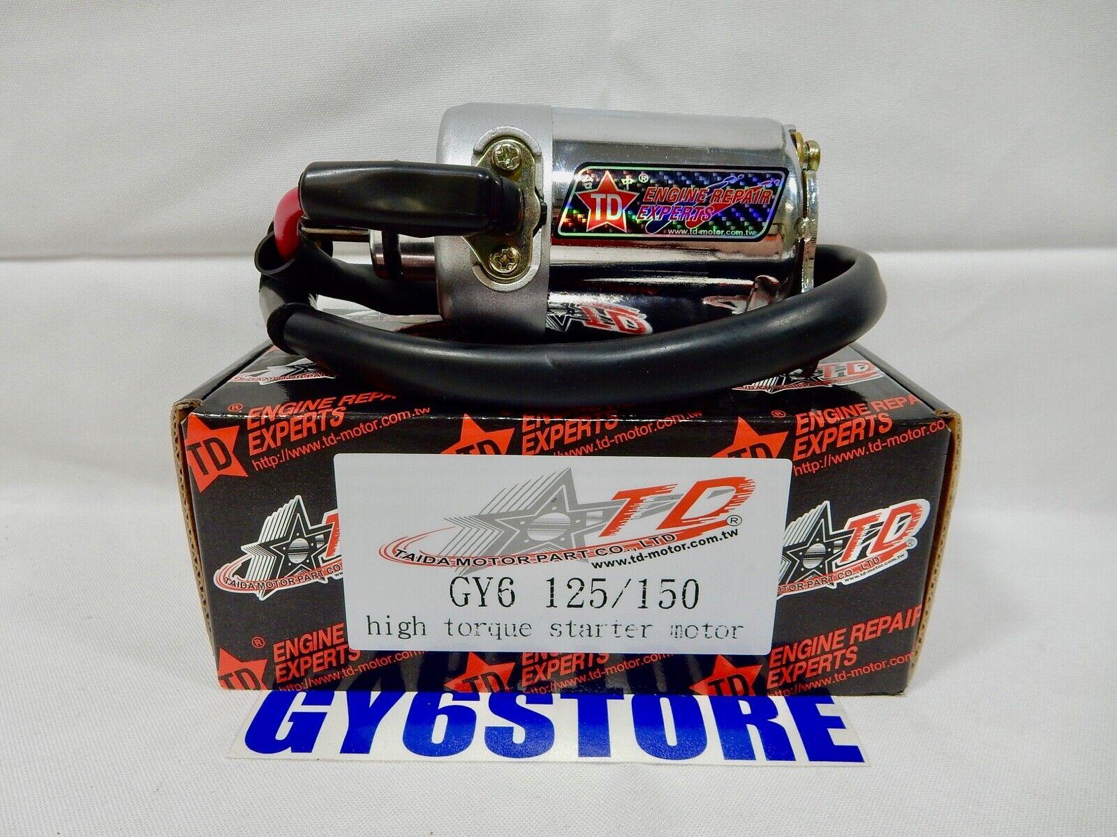 TAIDA HIGH PERFORMANCE GY6 HIGH TORQUE 150cc - 180cc STARTER MOTOR *NEW*