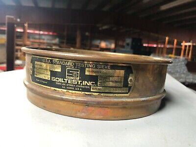 Soiltest 8 Diameter Usa Standard Testing Sieve Ins 38 Aperture 9.50 Mm