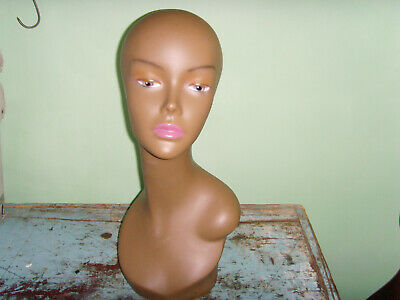 Great African American Wig Form Mannequin Head Jewelry Display Beauty 18 Chic