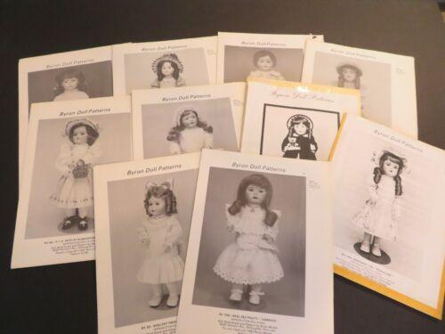 Vintage Byron Doll Pattern Mixed Lot -DP2-