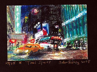 4 ORIGINAL Cityscape PRINTS Arthur Robins NYC Art Times Square bridge