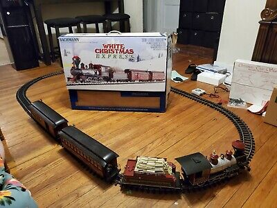 "Bachmann White Christmas Express Electric Train Set - Large ""G"" Scale 90076"