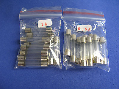 6x30mm Slow Blow Glass Tube Fuse Assorted Kit 7 Value Total 70pcs Assorted Kit