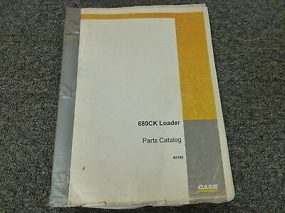 Case 680ck Construction King Backhoe Loader Parts Catalog Manual Book B1165