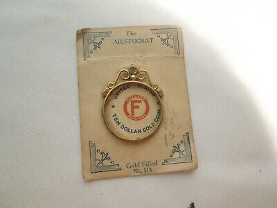 Vintage Gold Filled Coin Bezel Pendant Fullers Findings #515 for $10 Gold Coin