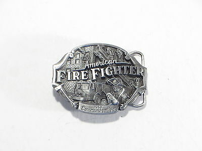 Arroyo Grande Belt Buckle American Fire Fighter 1989 Commemorative Ltd Ed #2279