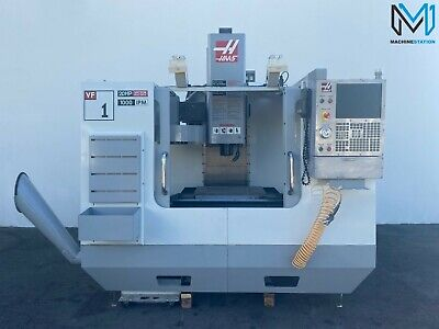 Haas Vf-1d Vertical Machining Center Vmc 20 Hp 7500 Rpm Cnc Mill Mpg Usb - Vf