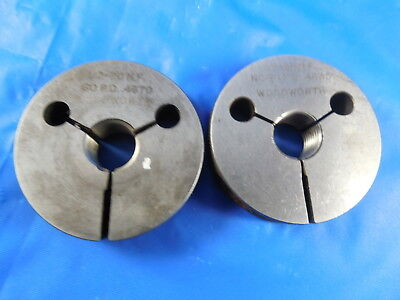12 20 Nf Thread Ring Gages .5 Go No Go P.d.s .4670 .4635 Inspection Tool
