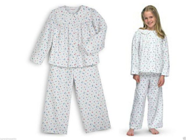 American Girl Doll Emily's Pajamas for Med Girls Heavy Flannel ...