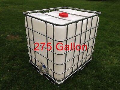 Clean Ibc 275 Gallon Liquid Storage Tote Garden Water Collection Dd1