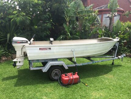 15Hp Johson outboard & 14Ft Tinny Boat