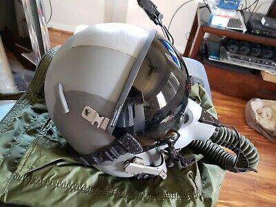 Gentex Fighter Pilot Helmet, HGU-55/P 12P Mask,CRU-60, Helmet Bag & Extras