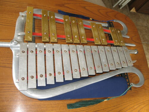 Ludwig Bell Lyra Lyre Glockenspiel marching Xylophone vintage thick wide Musser
