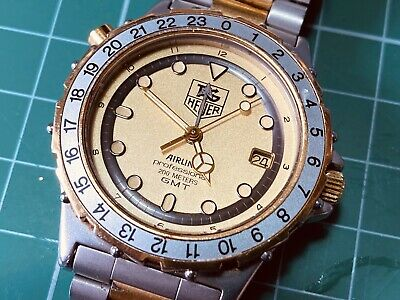 Vintage TAG HUEUR Pilot Professional 200m GMT Wristwatch