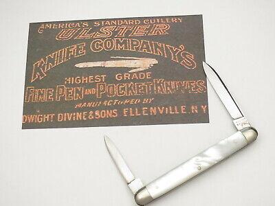 Antique ULSTER KNIFE Co. Pre-WWII Era Senator Penknife Genuine Pearl