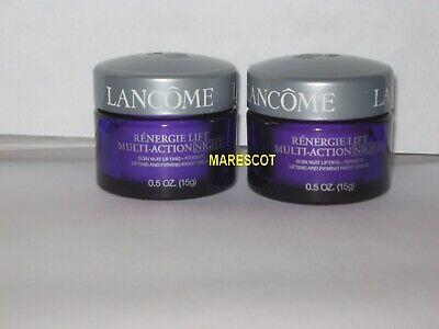 Lift Night Cream (2 Lancome Renergie Lift Multi Action Night Cream 0.5 oz each jar Authentic New )