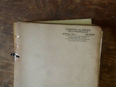 John Deere 45 Sp Combine W Hercules Jx-4c-3 Engine Parts Catalog Manual Pc433