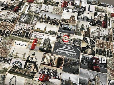 London Canvas Dekostoff Baumwolle Digitaldruck