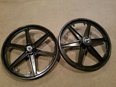 """NEW 20/"""" MAG WHEELS 6 SPOKE RED-GUM TIRES TUBES FOR GT DYNO HARO OR BMX BICYCLES"""