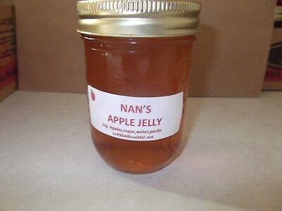 Nan's Homemade Apple  Jelly  Preserves  6 jars