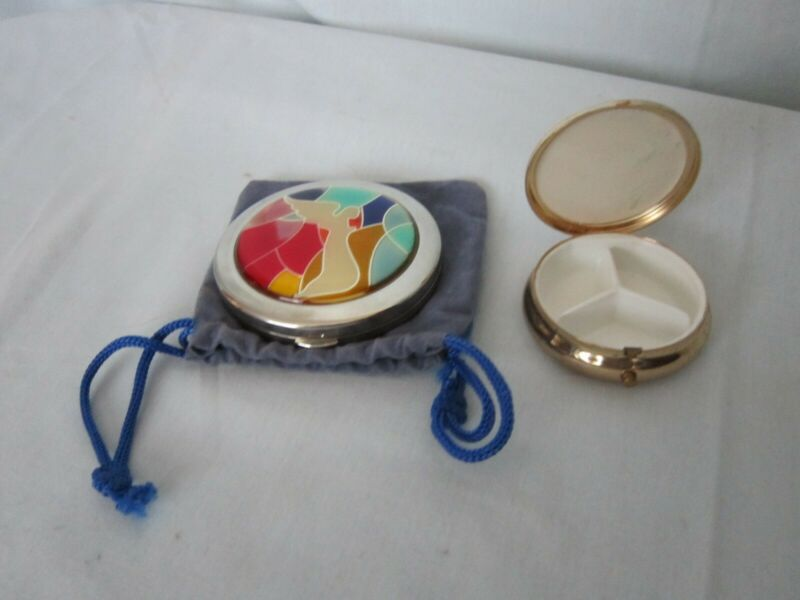 Vintage Compact Mirror and Pill Box