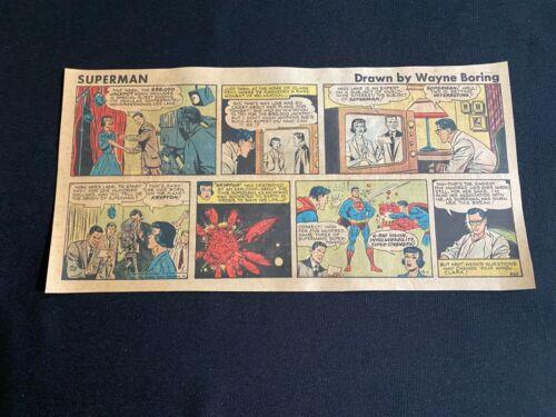#01 SUPERMAN by Wayne Boring Sunday Third Page Comic April 1, 1956  #857