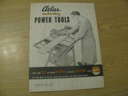 1954 ATLAS WOODWORKING POWER TOOLS CATALOG SAWS DRILL SANDER 31 PG FREE SHIPPING