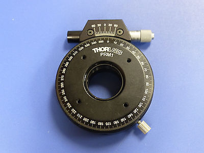 Thorlabs Prm1 Precision Rotation Stage - 1 Optics Mount With Micrometer