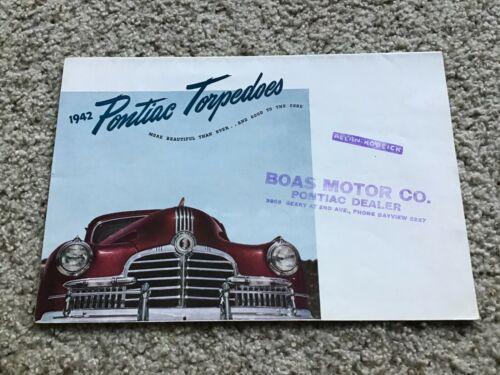1942  Pontiac original dealership color sales mailer.
