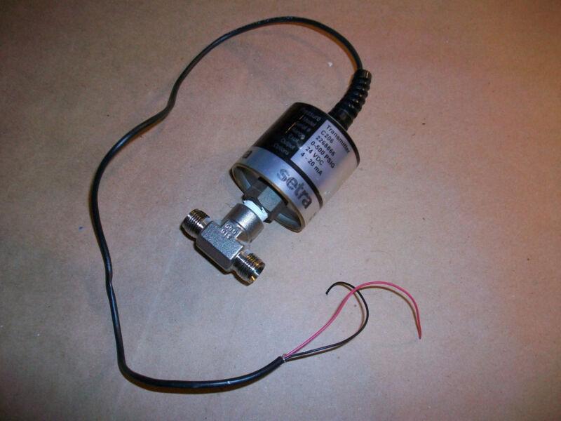 Setra Pressure Transmitter C206  0-500 PSIG    24VDC  Output  4-20mA
