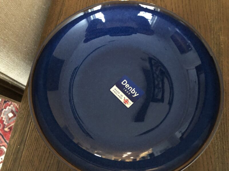 Denby Langley Imperial Blue Pasta Bowls- Selling in Sets of 2
