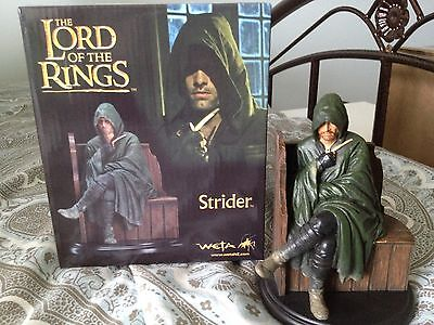 STRIDER 7 inch Miniature Statue WETA 2012 Lord of the Rings NEW Aragorn