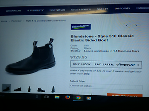 Blundstone steel cap boots size 6 Parmelia Kwinana Area Preview
