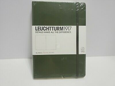 Leuchtturm 1917 Plain Army Green Hardcover Note Book. 251 Pages
